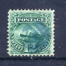 US Stamps - #117 - USED - 12 cent 1869 Pictorial Issue - CV  $255 - blue cancel