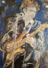 """Large piece, Bob """"Dylan"""" on canvas By Ronnie Wood, LE"""