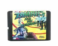 Sega Genesis Zombies Ate My Neighbors Game 16 Bit Complete Card Mega Drive