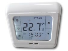 Digital Thermostat Touchscreen Room Thermostat Underfloor Heating #832 LCD White