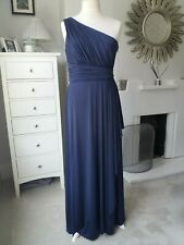 Phase Eight Blue One-Shoulder Full Length Evening Dress Size UK16 Party/Cocktail