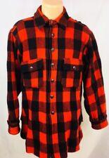Vintage 1940s Woolrich Woolen Mills Red Buffalo Plaid Jacket Shirt Size 42, M