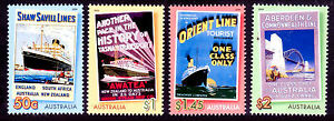 Bon Voyage 2004  4 Cruise Lines Posters, High Values set MNH  • FREE POSTAGE •