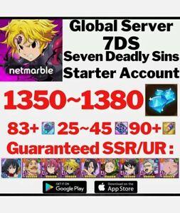 [GLOBAL] 1300+ Gem 99 SSR Seven Deadly Sins Grand Cross Starter Account