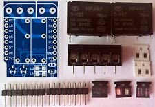 Dual Relais Shield für WEMOS D1 Mini  (ESP 8266) WIFI Modul Kit/Bausatz -Neu!