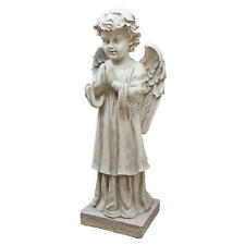"The Angel's Message Antique Stone Finish Design Toscano 28"" Garden Statue"