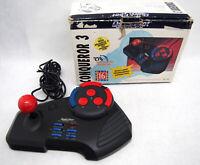 Sega Genesis/Megadrive QUICKSHOT ARCADE FIGHTER STICK TESTED Turbo/Macro IN BOX!
