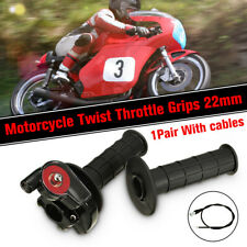 7/8'' 22mm Handlebar Accelerator Grip Twist Throttle Cable Kit Dirt Pit Bike ATV