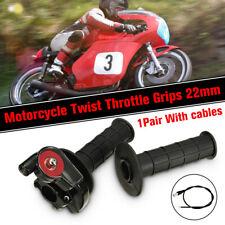 7/8'' 22mm Handlebar Accelerator Grip Twist Throttle Cable Kit Dirt Pit Bike ATV