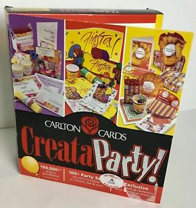CARLTON CARDS CREAT A PARTY! CD-ROM Party Printing Software Windows 95/98