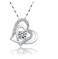 18K GP Gold Swarovski Element Crystal Heart Love Pendant Necklace Gift Box G13