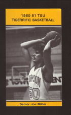 Towson State Tigers--1980-81 Basketball Pocket Schedule