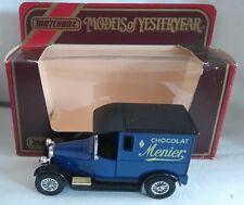 MATCHBOX YESTERYEAR Y-5 1927 TALBOT VAN CHOCOLAT MENIER DIECAST BOXED