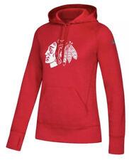 Adidas Women's Chicago Blackhawks NHL Team Issue Hoodie Sweatshirt Large L