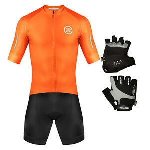 Zol Cycling Kit Orange Jersey with Race Model Gloves
