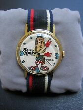 Vintage ORIGINAL Spiro Agnew D.T.C. Watch WORKS NEW Old Stock Wind Up
