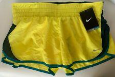 NEW NIKE [M] Womens DRI-FIT Running Shorts-Yellow 555434-700