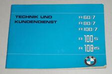 Scheckheft Blanko pour BMW R 60/7 80/7 100/7 100 S + Rs de 1978