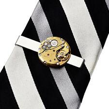 Steampunk Tie Clip - Genuine Watch Movement