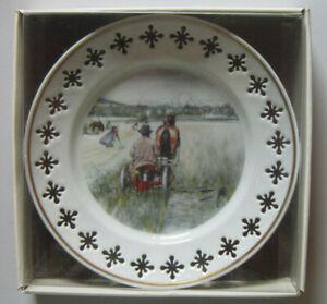 Bing and Grondahl Carl Larsson serie 3 Harvestering Plate no 2 new Original box