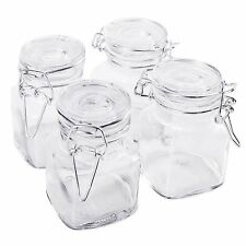 """20pcs Small Glass Jars Food Spices Canisters Hinge Lid 2.5"""" Kitchen Storage"""