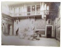 1880's Antique Photograph Photo  Maison J.P. Sebah India Street Scene Albumen