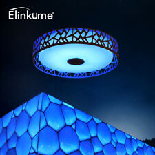 LED Ceiling Light Dimmable Bedroom Lamp 36W Bluetooth Control RGB Smart Lighting