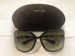 Tom Ford Womens Sunglasses - Raquel TF76 U45 63 14 120 Dk Green Frame & Lenses
