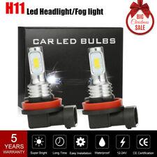 2X H11 100W LED Fog Light DRLs Bulbs H8 H9 H/L Beam Headlight 8000LM 6000K White