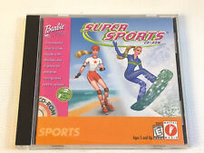 Barbie Super Sports PC CD-ROM Game 1999 Snowboard Rollerblade Extreme 95 98 XP