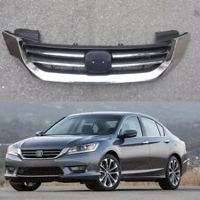 1Pcs Chrome Upper Hood Grille Grill For Honda Accord 2013-2015
