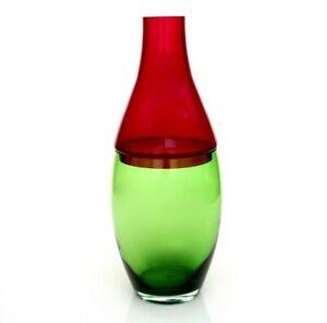 Giant 41.5cm Murano Art Glass Inclamo 2 Piece Bottle Vase Carlo Nason