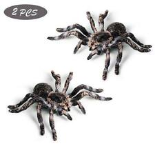 2X Realistic Fake Spider Toys Insect Model Halloween Joke Prank Props Scary Toy