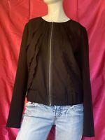Womens Size Medium Polyester GAP Top/blouse Black Gathered Waist