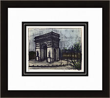 "Striking Bernard BUFFET 1967 Color Lithograph ""L'Arc De Triomphe"" Framed COA WOW"