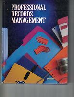 Professional Records Management - Jeffrey R. Stewart  (HC, 1995, 1st Ed)