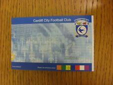 08/03/2003 Ticket: Cardiff City v Notts County [Press & Media Centre Pass] . Bob