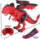 2.4G Remote Control Dinosaur Toys, Walking Robot Dinosaur w/ LED Light  Roaring