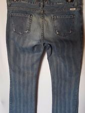 "WOMEN'S JEANS GUESS BOOTCUT DISTRESSED COTTON SIZE 12/30"" LEG 33"" FREE POSTAGE"