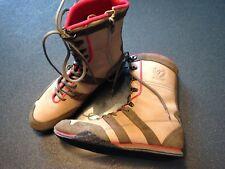 TOMMY HILFIGER Marken Damen Schuhe Boxer Stiefel Gr.38 beige rot khaki sportlich
