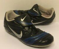 NIKE JR Premier FG-R Soccer Cleats Shoes-Black/Blue (Youth Size 3)