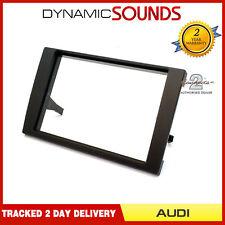 CT24AU16 Black Double Din Stereo Fascia Adaptor Panel For Audi A4 B6/B7 2001-08