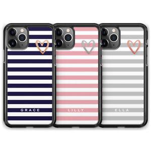 Custom Heart Name Initial Phone Case For iPhone 13 Pro Max 12 Mini 11 XR X 8 7 6