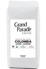 5 lbs Organic Colombian Supremo Dark Whole Coffee Beans, Fresh Roasted Daily