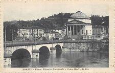 850) TORINO, PONTE VITTORIO EMANUELE E GRAN MADRE DI DIO. VG NEL 1918.