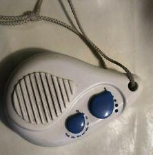 UKW Duschradio Badezimmerradio TFR- 138 Birnenform Weiß blau