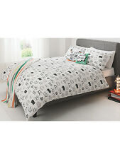Stylish George Home Speech Bubble Slogan KING SIZE Duvet Cover 2 Pillowcases