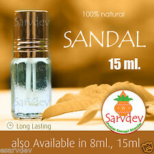 15ml Sandal Wood 100% Pure Itra Chandan attar For Long Lasting Fragrance Roll on