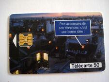 PHONECARD TELECARTE FRANCE TELECOM BOURSE ACTIONS
