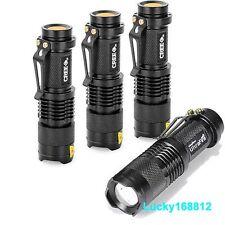 4Pcs 7W 800LM CREE LED Adjustable Focus Zoom Mini Flashlight Torch Light Lamp